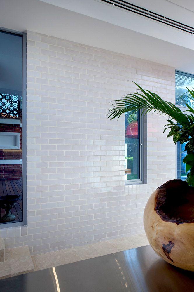 Modern interior feature wall featuring Austral Bricks Dynasty ...