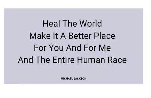 heal the world song lyrics
