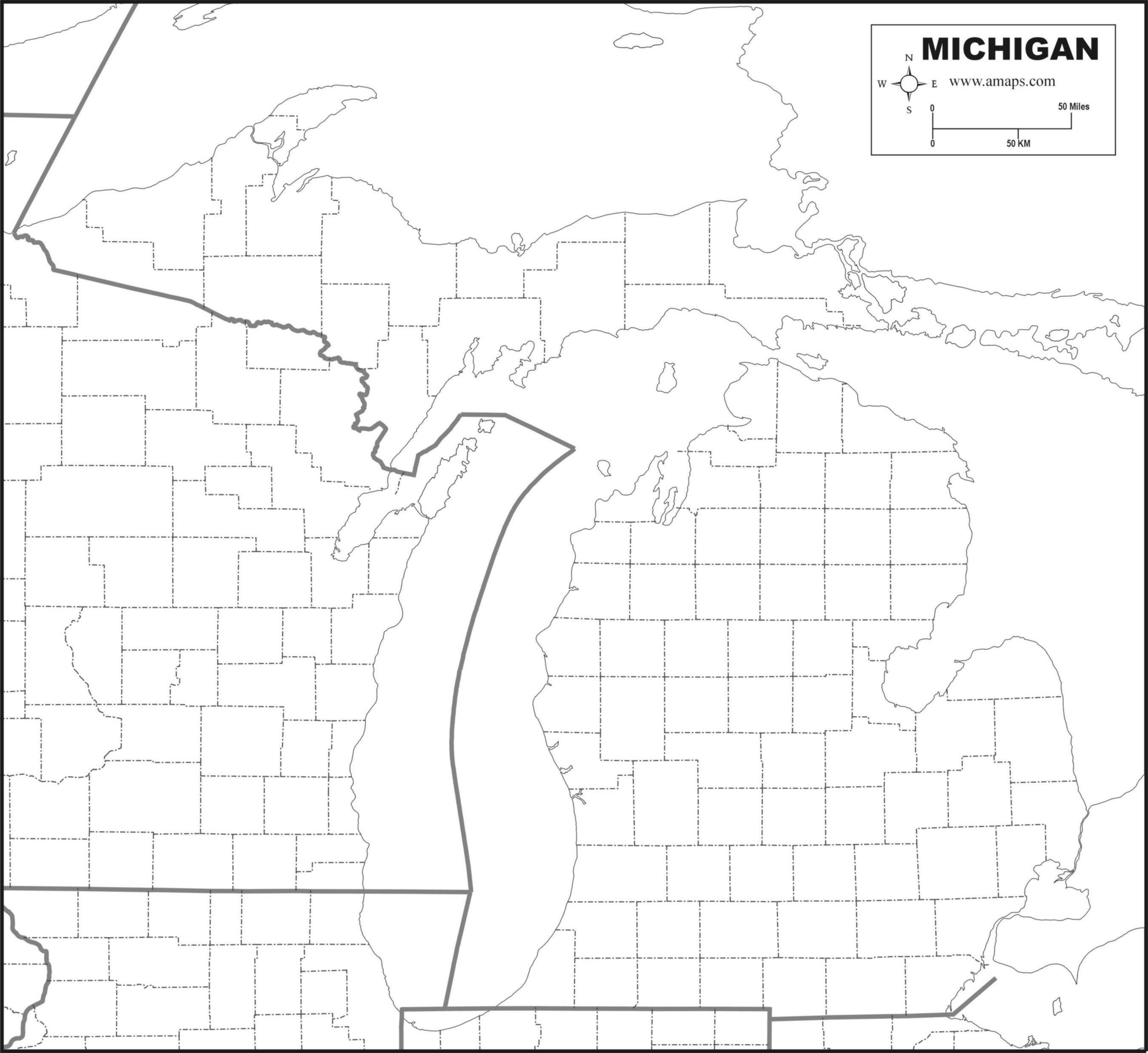 Free Map Of Michigan