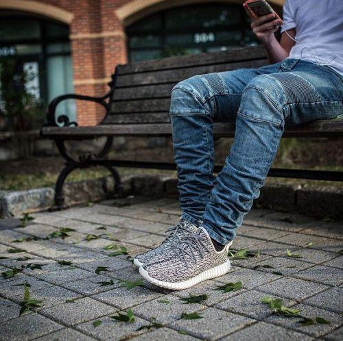 Adidas Yeezy Boost 350 Turtle Dove On Feet