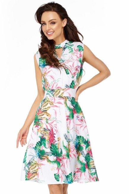 Rozkloszowana Sukienka W Kwiaty Kobieta Odziez Sukienki Sukienki Shop Maxi Dress Fashion Dresses