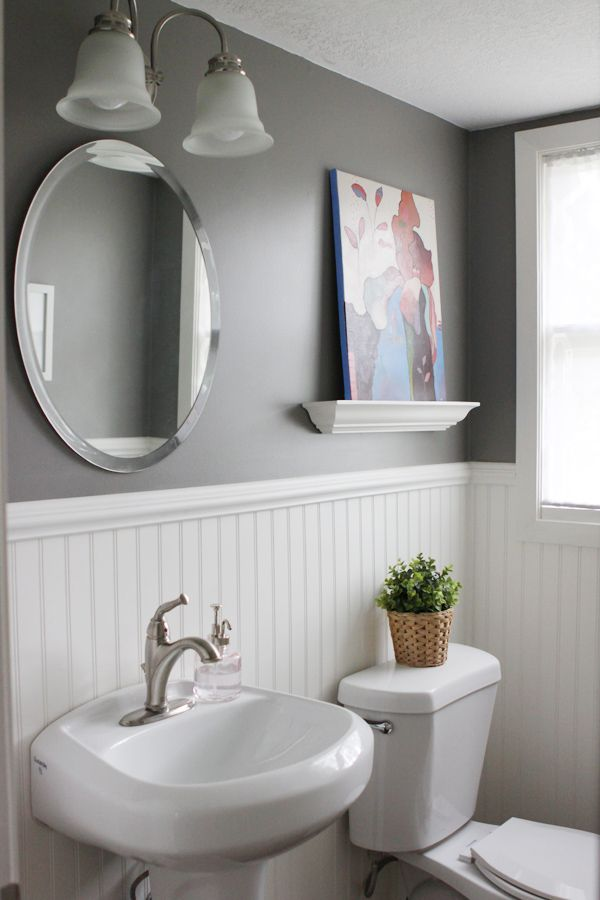 Home Tour Half Bath Beadboard Bathroom Bathrooms Remodel Rustic Master Bathroom
