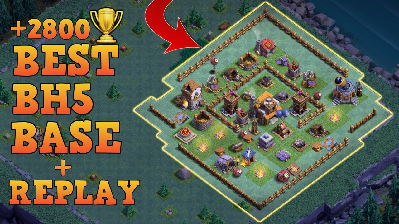 Clash Of Clans Builders Hall 5 Base Builder Hall 5 Base Bh5 Builder Base W Replay Anti 3 Star Base Layout Clash Of Clans Clash Of Clans Clan Layout