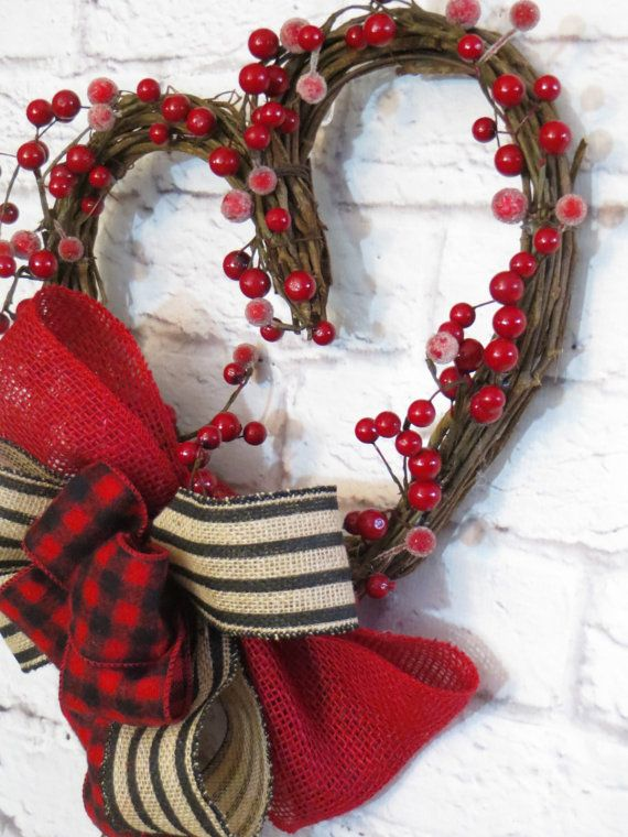 Winter Heart Wreath Rustic Heart Rustic Valentine Grapevine Heart This Rustic Grapevine Heart Is Adorned Wi Rustic Valentine Valentine Crafts Winter Wreath