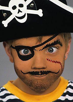Halloween Schmink Kind.Piraat Make Up Pirate Make Up Piraten Halloween