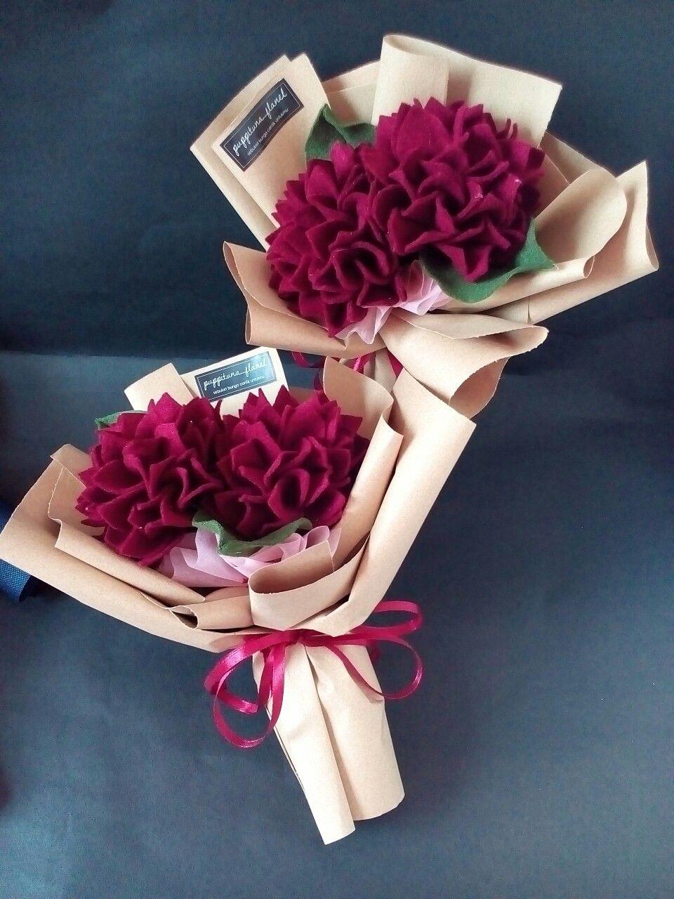 Hydrangea Bouquet Hortensia Bouquet Buket Flanel Felt Flower Bunga Flanel Hortensia Flanel Buket Bunga Buket Kreatif