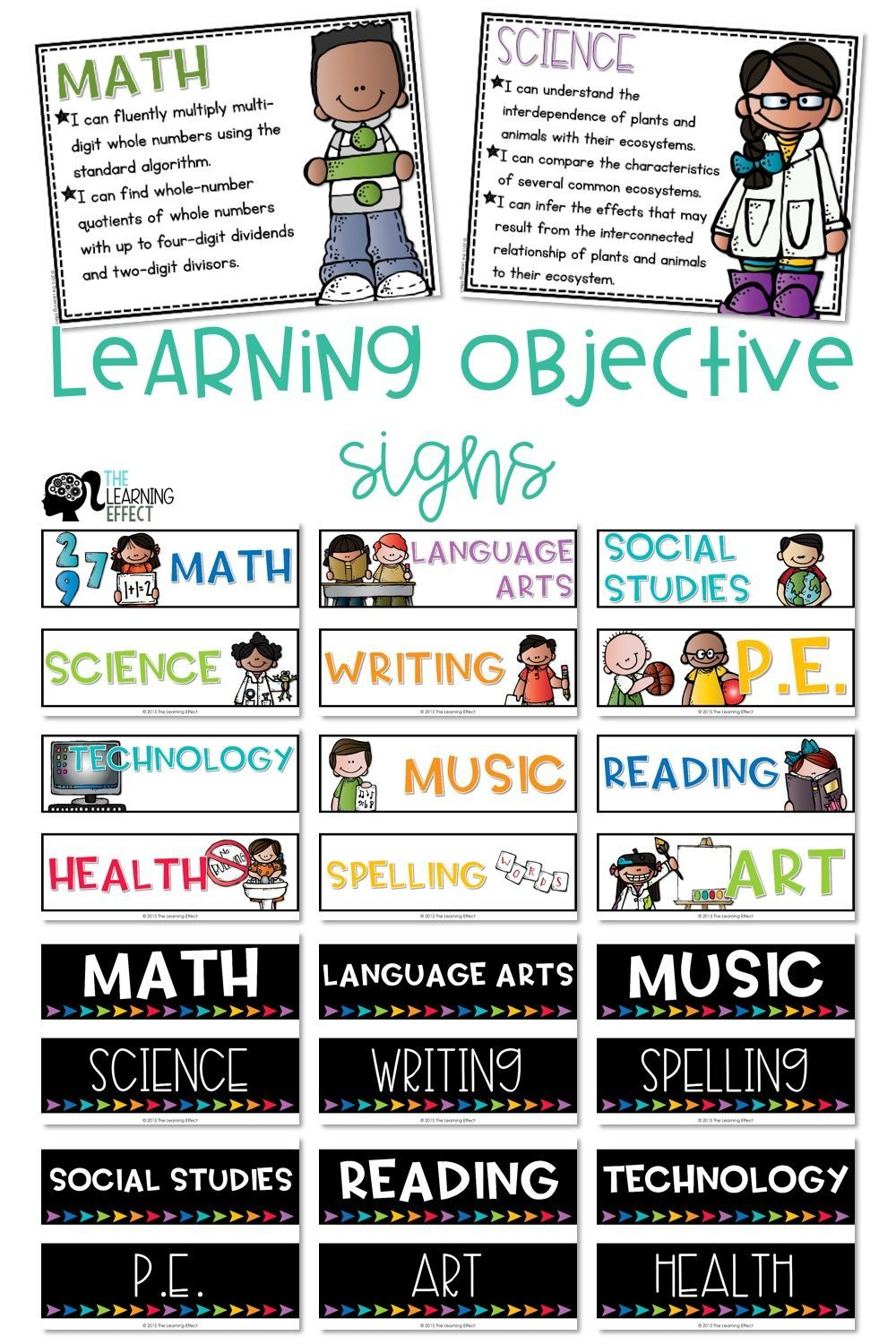 Create A Beautiful Learning Objective Display Or Focus Wall Choose From Subject Headers Or Learning Objectives Display Objectives Display Learning Objectives How to write learning objectives