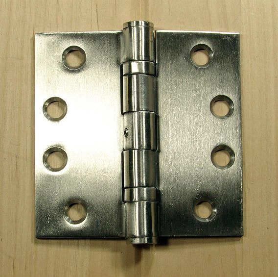 Stainless Steel Ball Bearing Hinges Commercial Hinge 4 X 4 Square Corner Sold In Pairs