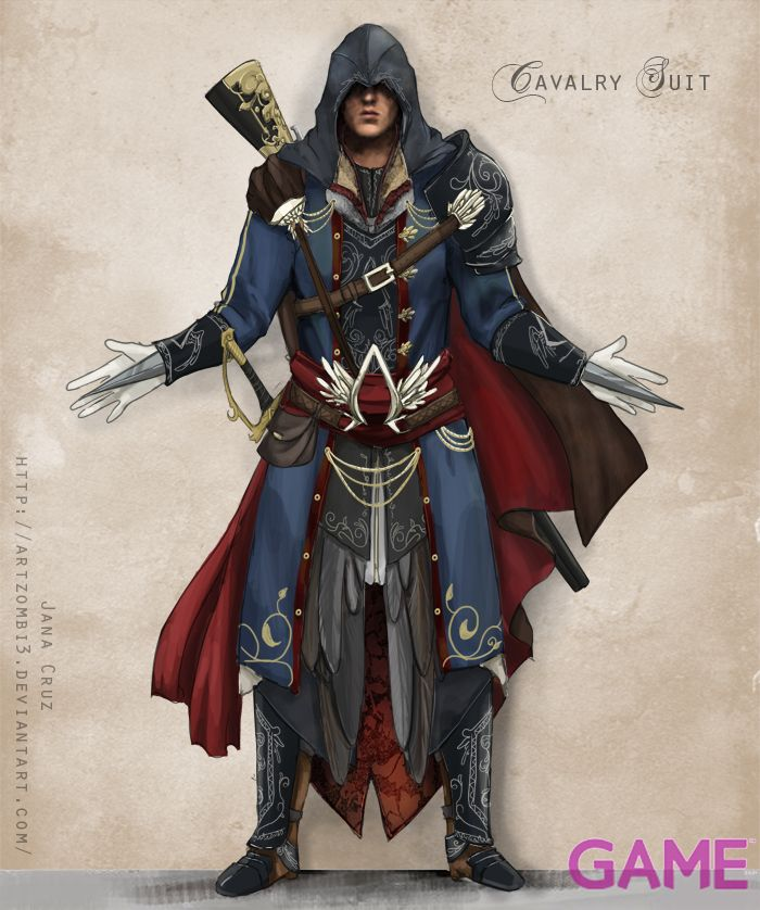 Ac Gameaus Ezio Costume Design By Artzombi3 Assassins Creed