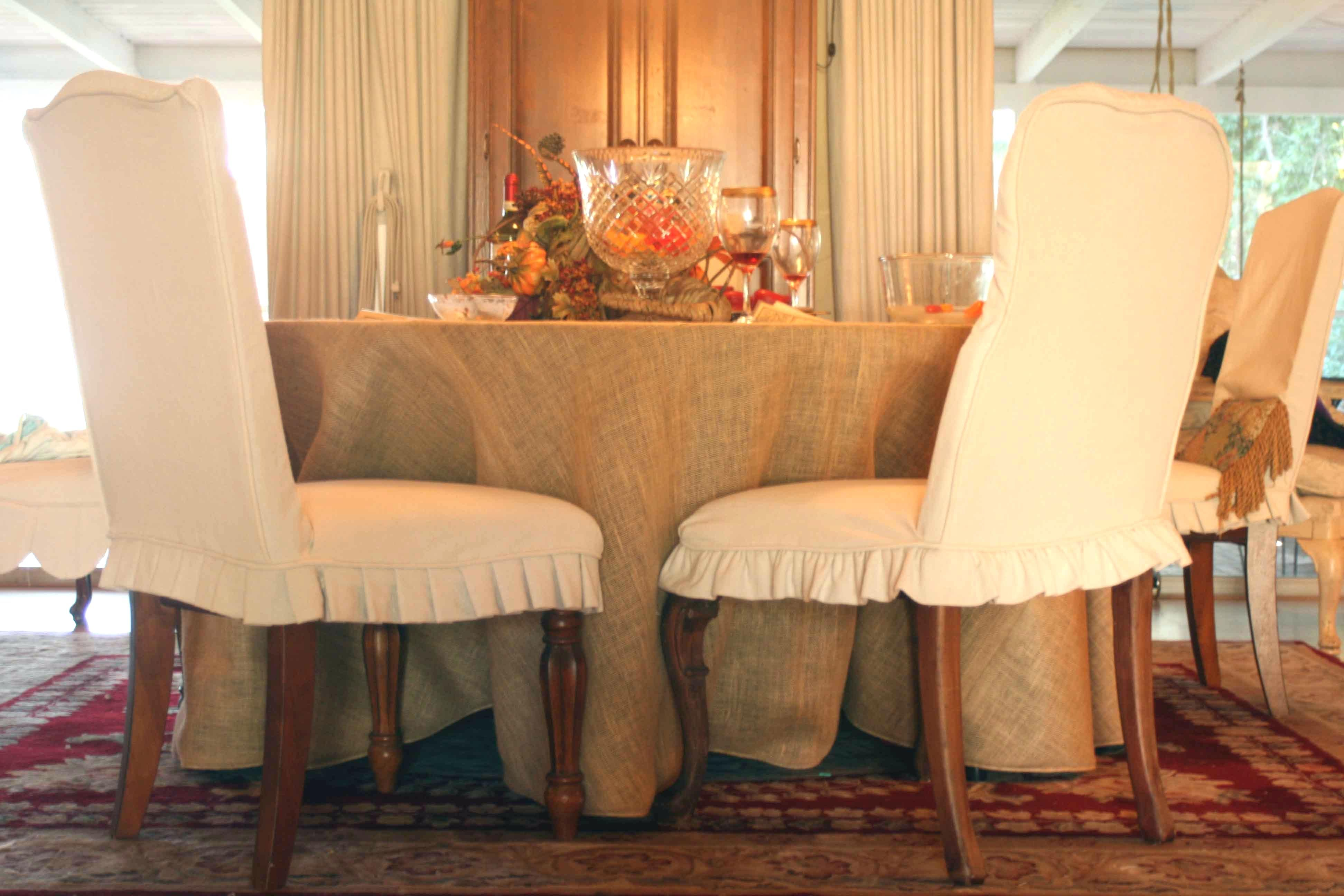 Room Cotton Dining Chair Slipcovers
