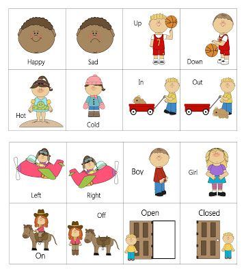 Free Opposite Worksheets For Kindergarten