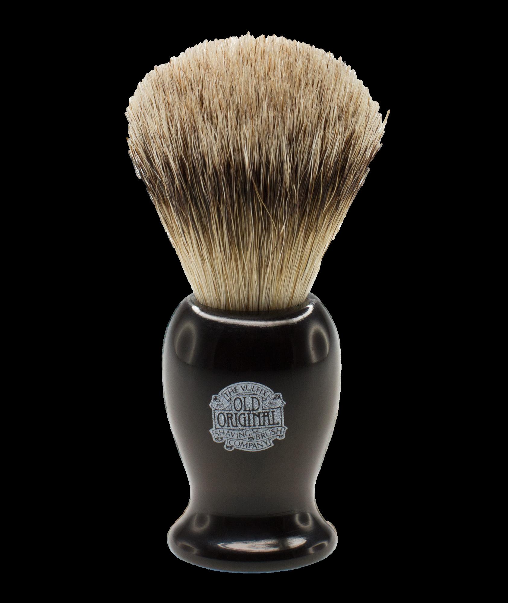 Progress Vulfix Super Badger Shaving Brush, Medium Black Handle