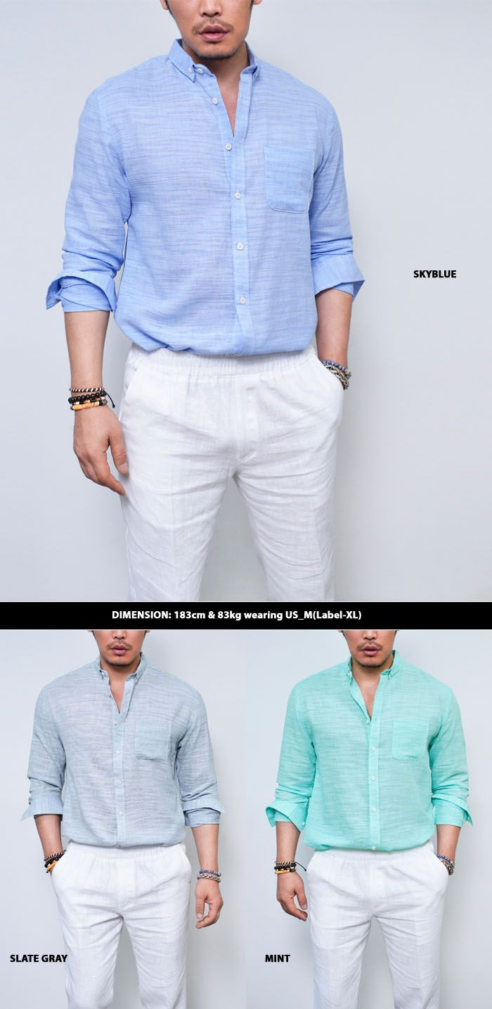 Refreshing Must have Linen Shirt 169 by | Linen