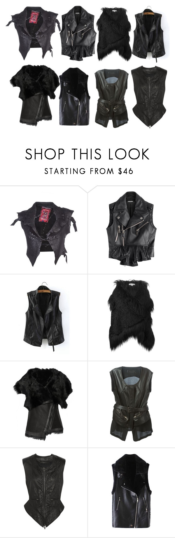 """Vests-5: Fur & Cuir"" by lorika-borika on Polyvore featuring мода, B*+S, Dsquared2, STELLA McCARTNEY, Karl Donoghue, Haider Ackermann, women's clothing, women, female и woman"