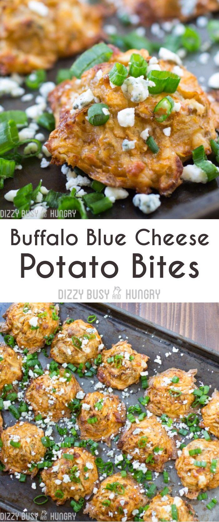 Buffalo Blue Cheese Potato Bites #SundaySupper # ...