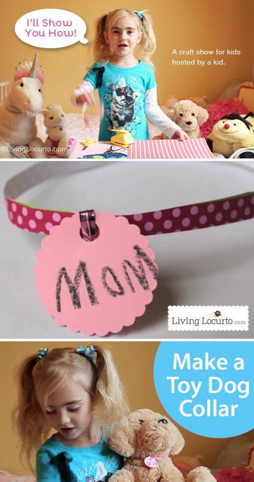 Stuffed Animal Pet Collar Kids Craft With Images Fun