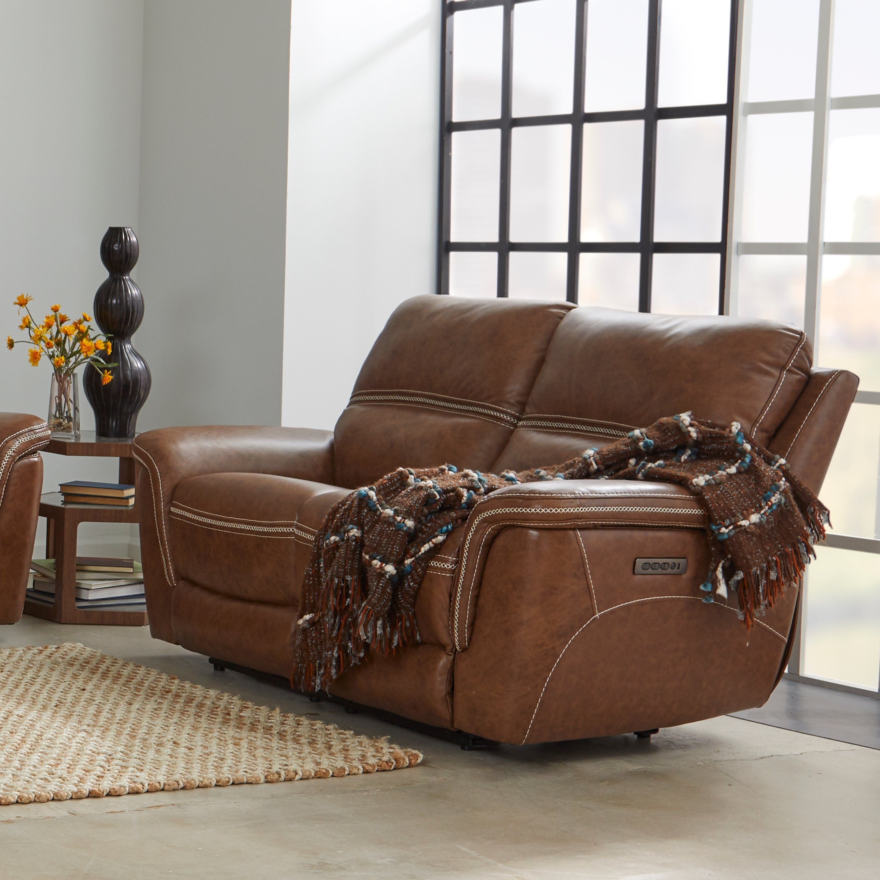Cool Mason Reclining Loveseat With Power Headrest And Lumbar Pabps2019 Chair Design Images Pabps2019Com