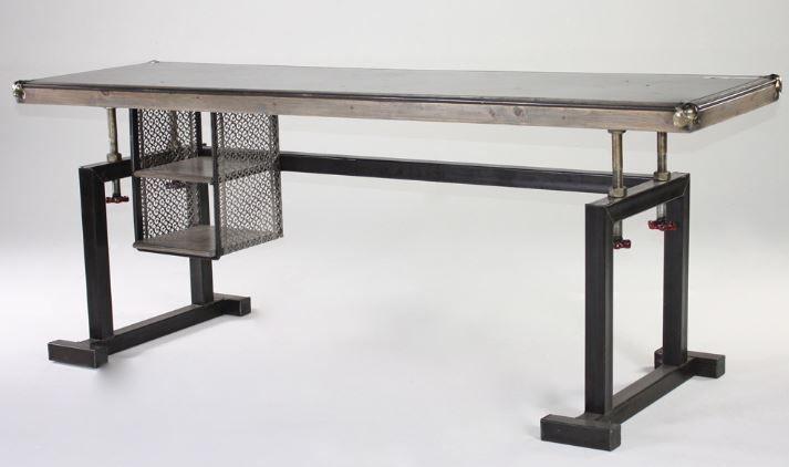 Interior Architecture Marvelous Industrial Metal Desk On Vintage