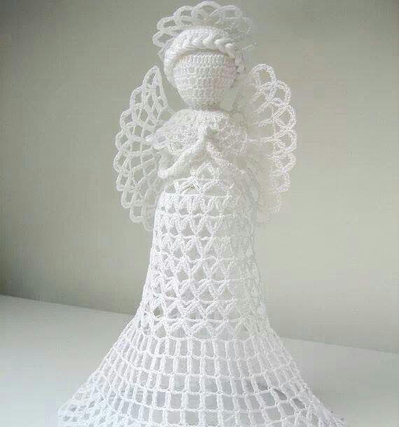 Crochet angel | christmas crochets | Pinterest | Ángeles, Ángeles de ...