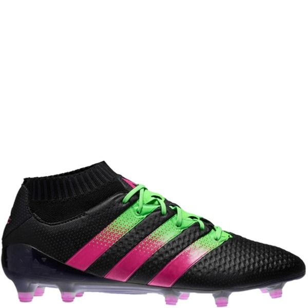 adidas ACE 16.1 Primeknit FG AG Black Shock Pink Solar Green Soccer cleats  - model AQ2543 0c8906a7e87c2
