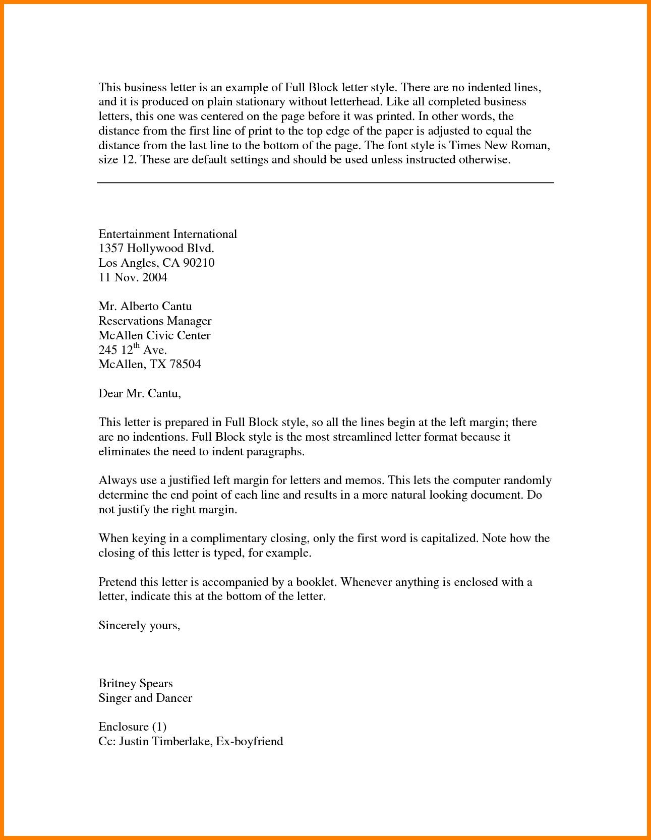Best Refrence New Sample Letter Full Block Format By Httpwaldwert Visit Detail Http H Busines Template Word Essay