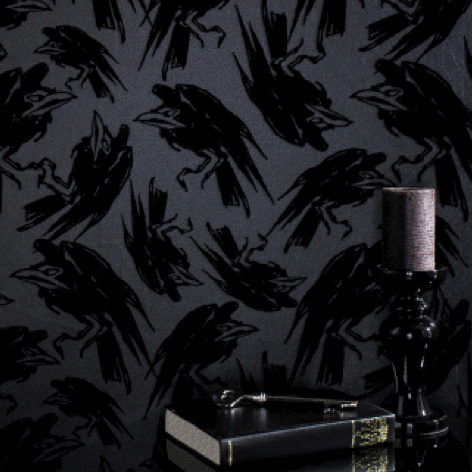 home decor dark wallpaper decor gothic Maleficent Crows grim villain Disney  Villain gothic living goth home