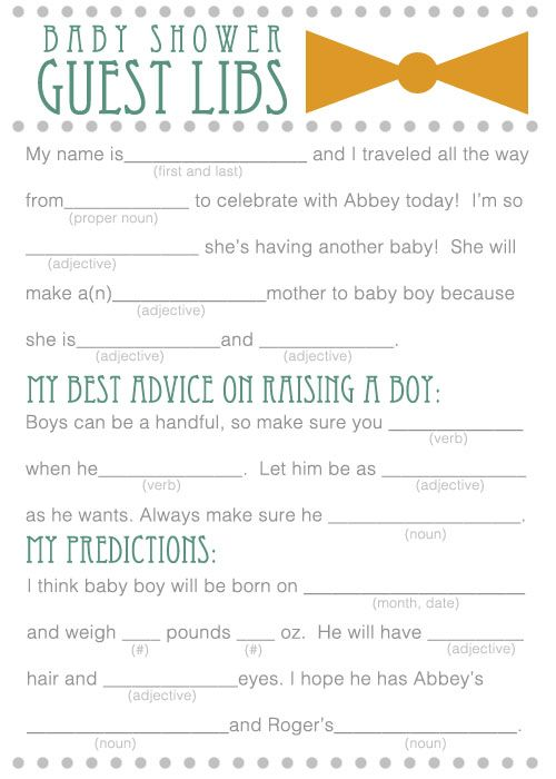 Baby shower mad libs katies baby shower pinterest baby shower mad libs pronofoot35fo Image collections