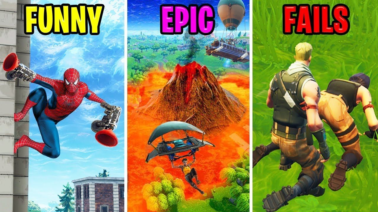 Funny Vs Epic Vs Fails Fortnite Battle Royale Youtube Epic