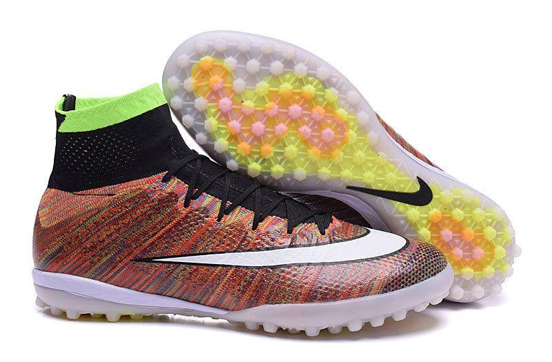 cbf597cb999 ... get nike high turf soccer boots 2016 mercurialx proximo rainbow brown  white black 72f93 c122e
