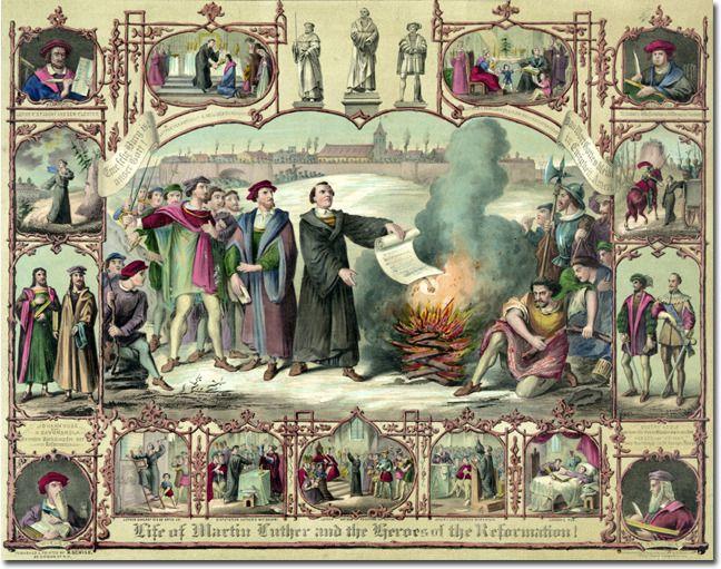 Desde Lutero, a fé como um ato de resistência - Life of Martin Luther and and the Heros of Reformation, litografia, 1874