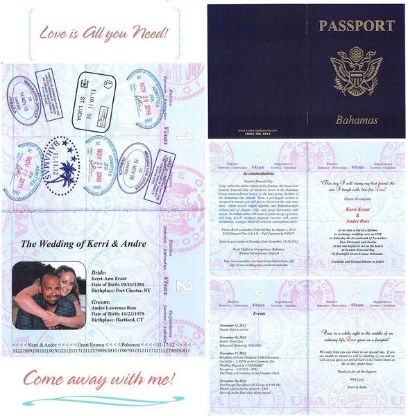 Passport Invite To Paradise Sandals Wedding Blog Passport Invitations Passport Wedding Passport Wedding Invitations
