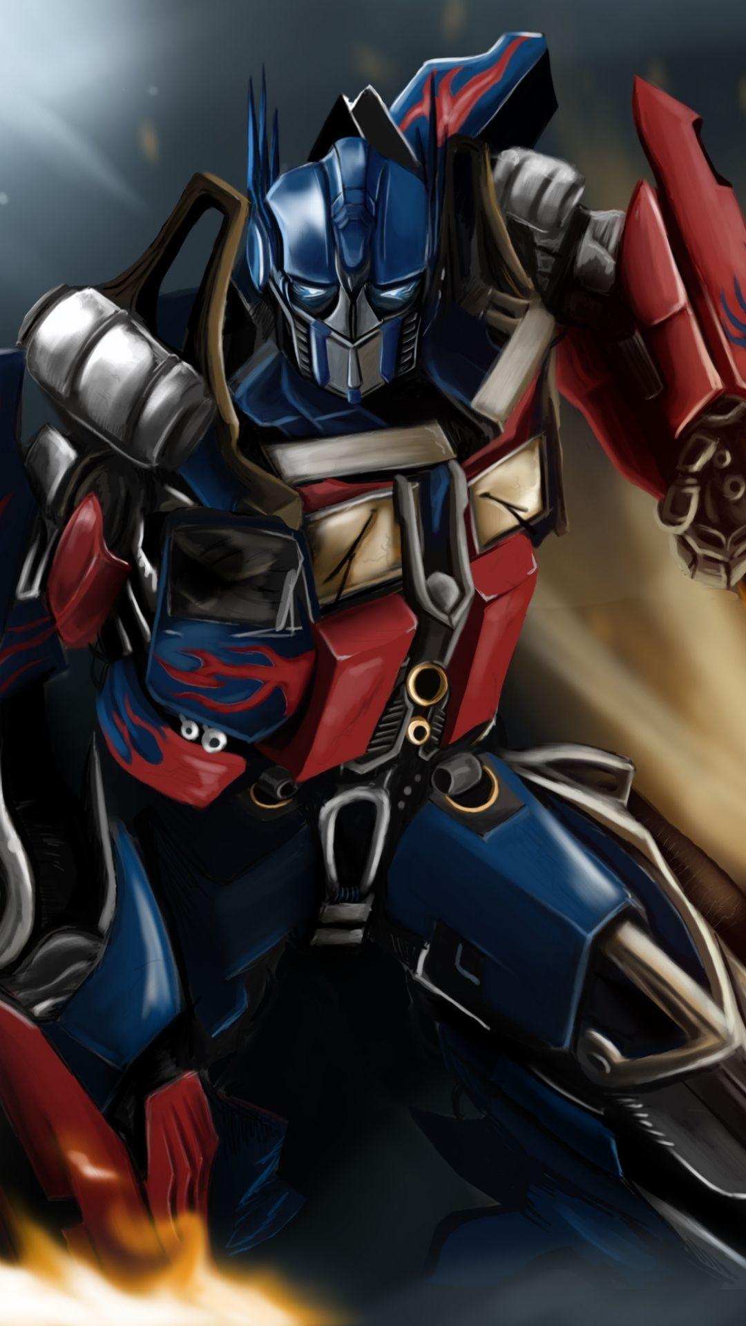 Optimus Prime Revamp Transformers Movie Artwork 1080x1920 Wallpaper Optimus Prime Wallpaper Transformers Optimus Prime Wallpaper Transformers