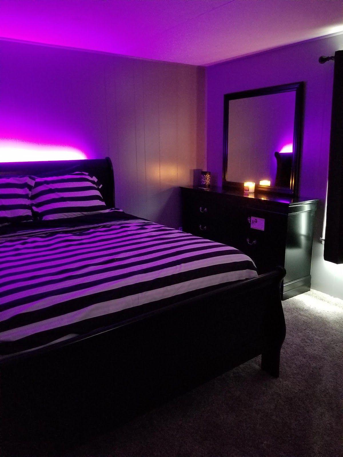 black light bed room en 2020 (con imágenes) | Dormitorio ...