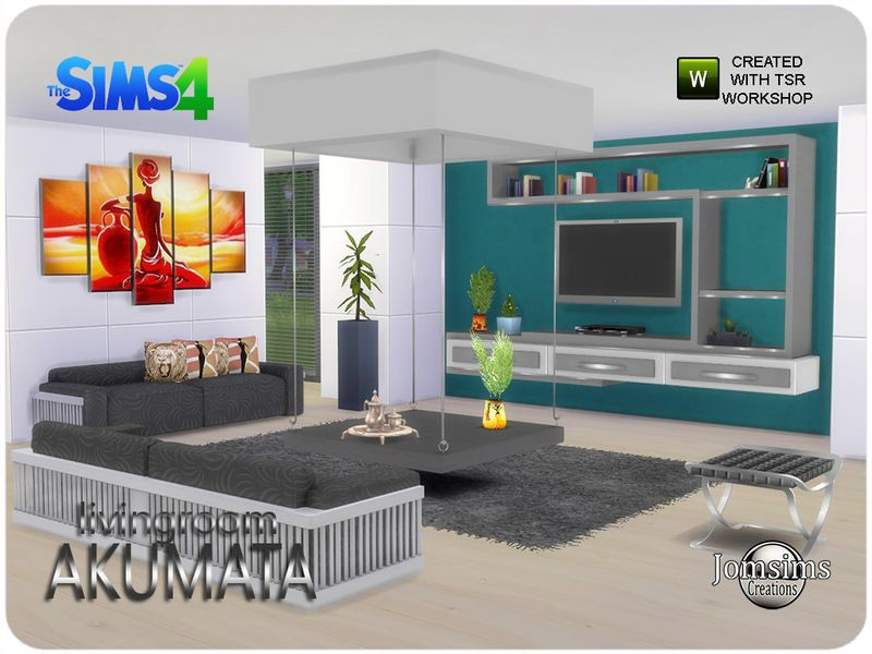 Here Is My New Living Room Sims Akumata Found In TSR Category 4 Sets