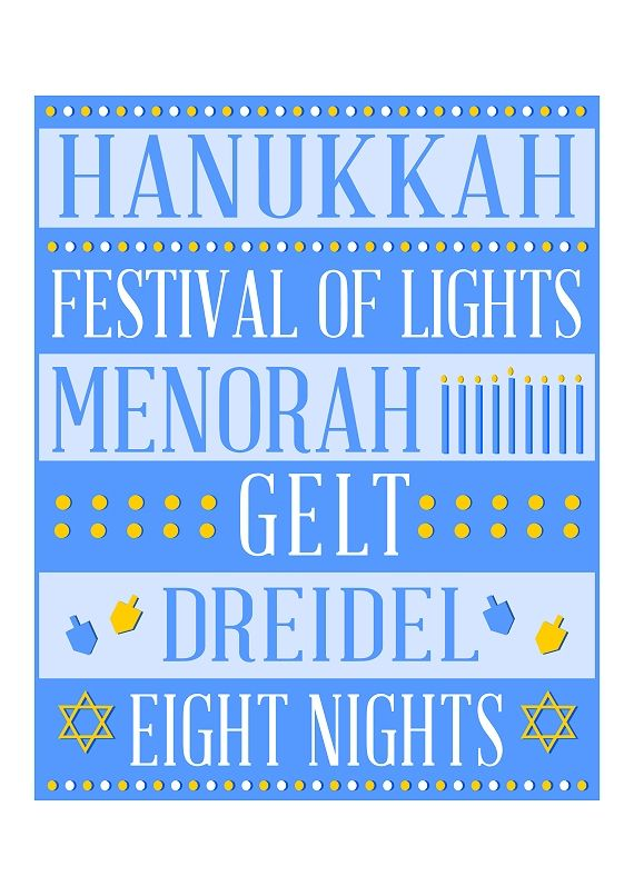 This is a picture of Free Printable Hanukkah Cards throughout menorah