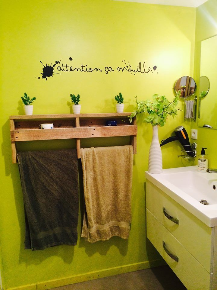 S che serviette en bois de palette meubles et rangements par kubick deco salle de bains - Meuble avec des palettes ...