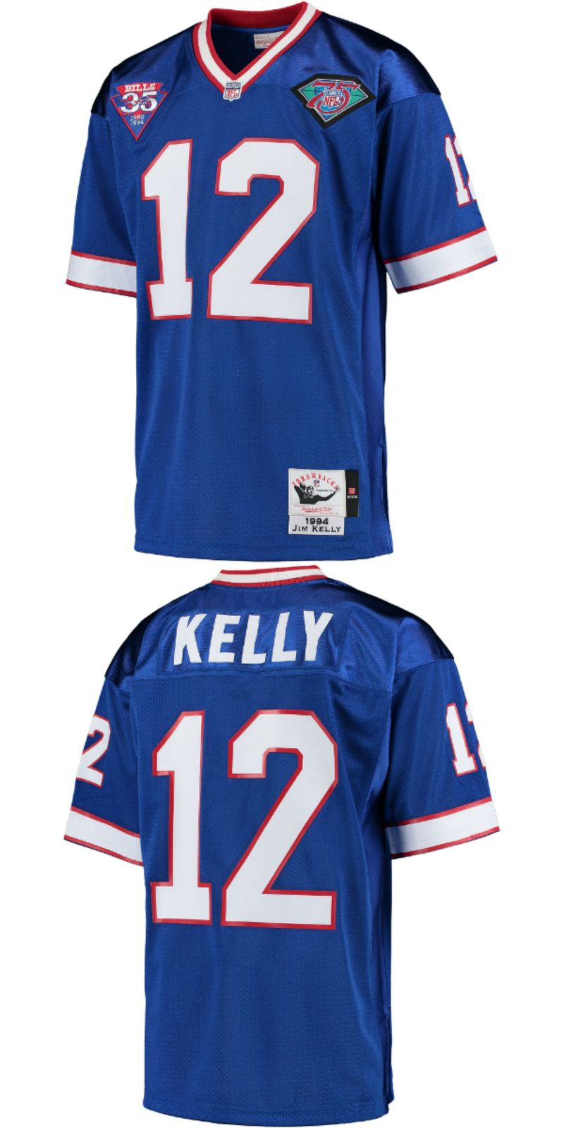 huge selection of 331ee f97ad Jim Kelly Buffalo Bills Mitchell & Ness 1994 35th ...