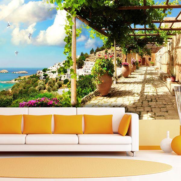 Fotomurale terrazza di fronte al mare #fotomurale #mural #parede #muro #decorazione #deco #StickersMurali