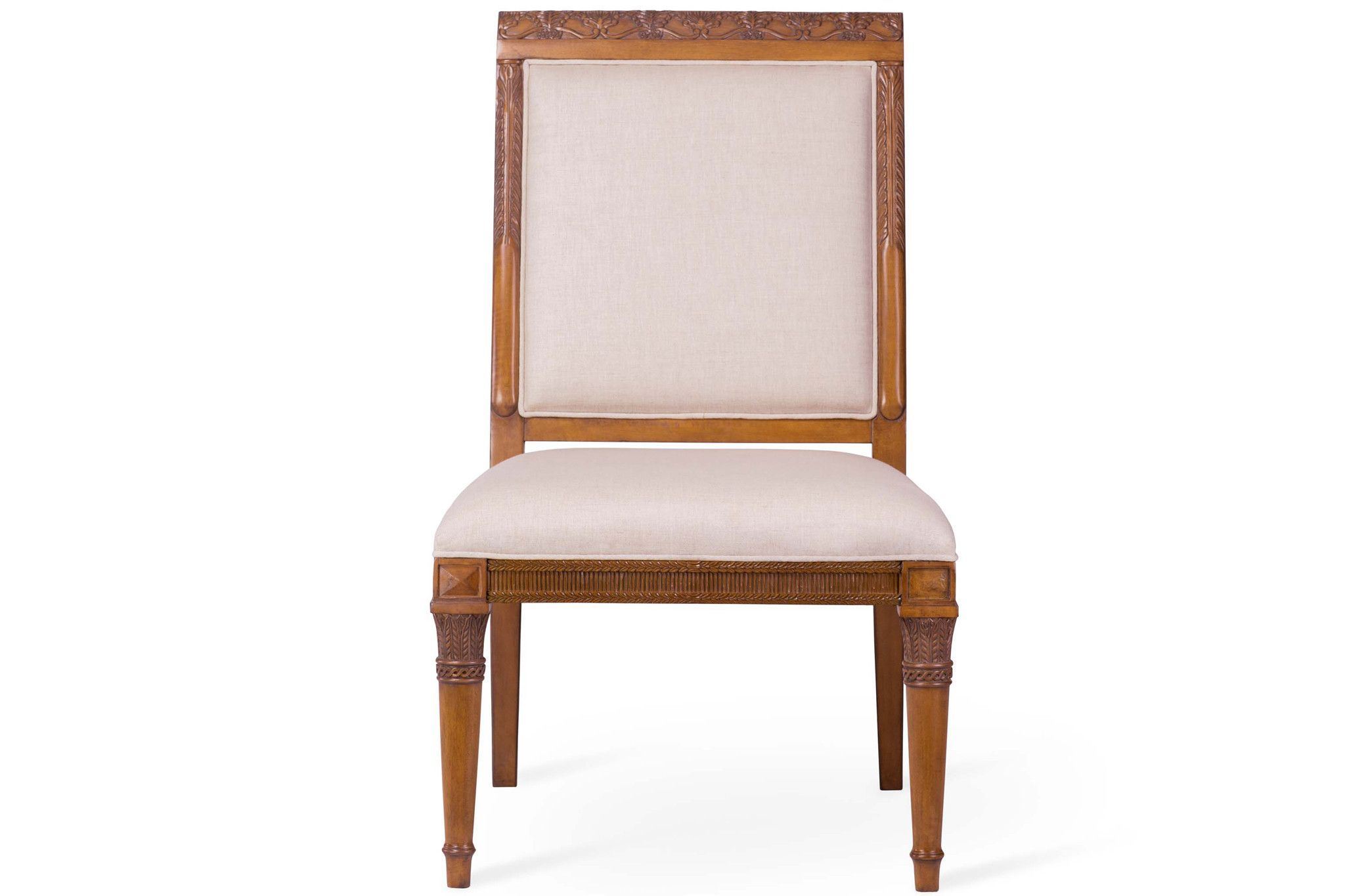 Tita Chair Honey Finish + Oatmeal Fabric