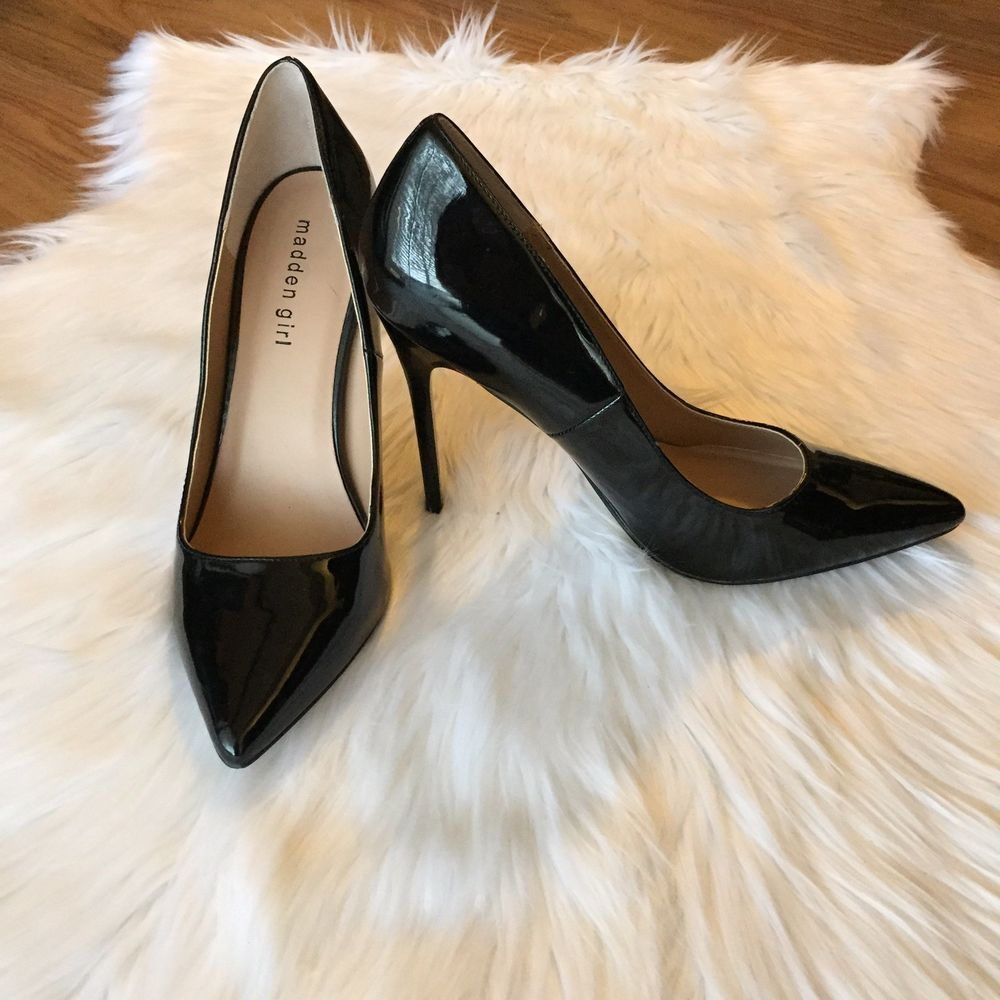 bc92dce69f Madden Girl Oh Nice Black Patent Leather Pump Heel Size 9M #fashion # clothing #shoes #accessories #womensshoes #heels (ebay link)