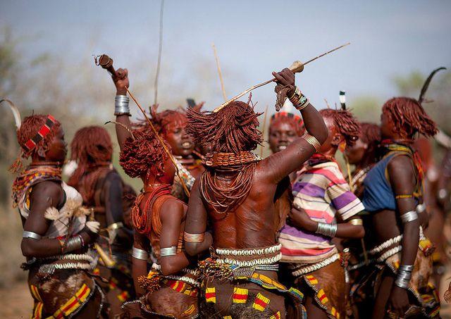 Hamer Girls Dancing Ethiopia Rite Of Passage Ethiopian Tribes