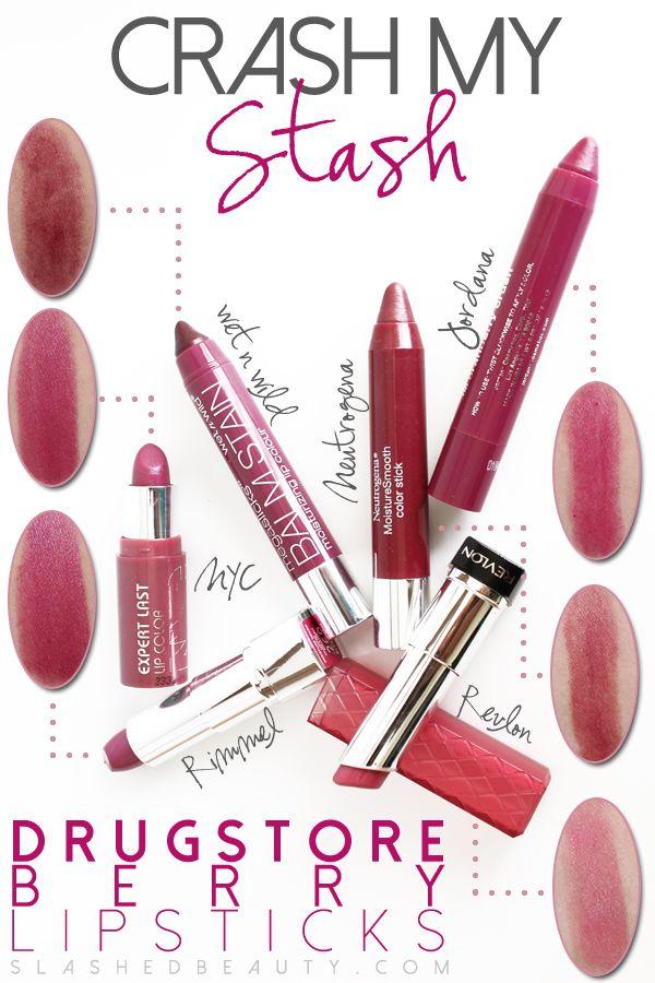 Crash My Stash: Drugstore Berry Lipsticks | Slashed Beauty