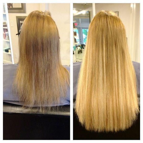 Before And After Longer And Thicker Hair With Di Biase Hair