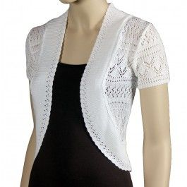 Misses Sexy White Lace Shrug by Nice Wear New York! http://www ...