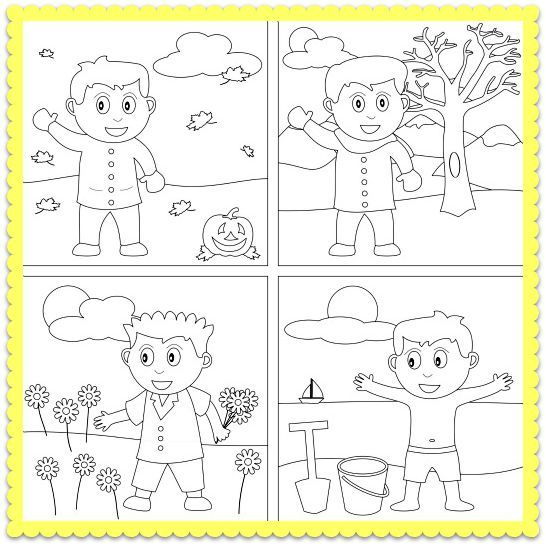 {Image result for four seasons preschool worksheets – Season Worksheets for Kindergarten