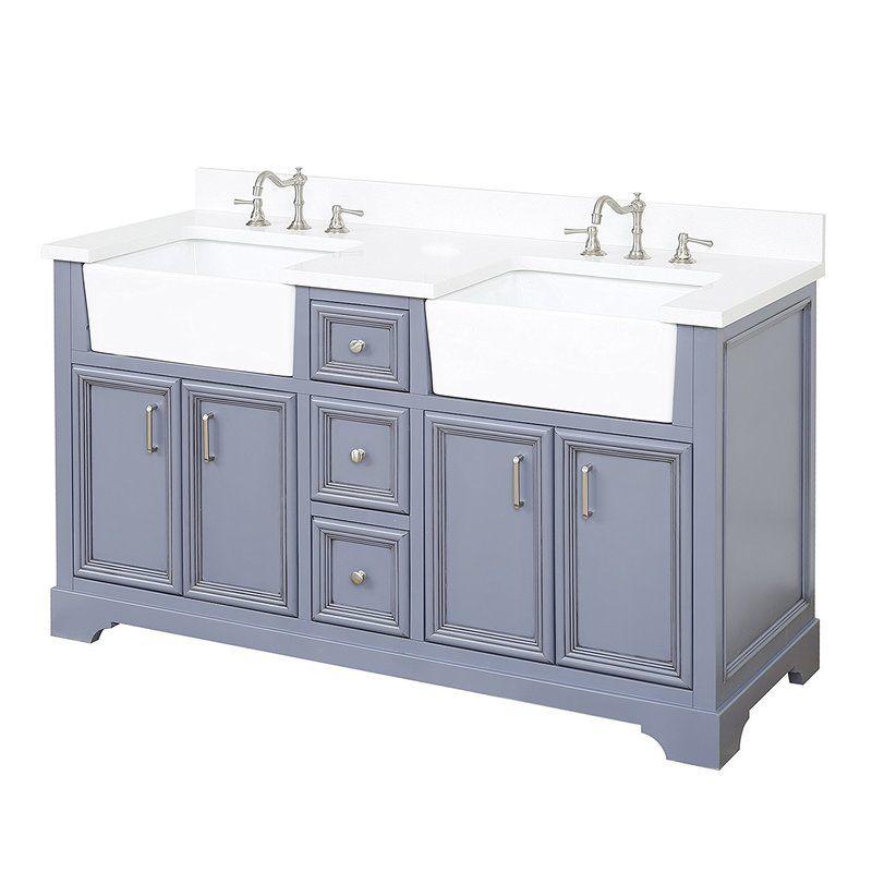 Zelda 60 Double Bathroom Vanity Set Double Vanity Bathroom Kitchen Bath Collection Bathroom Vanity
