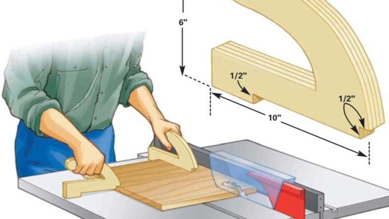 FingerSaving Push Sticks Table saw, Woodworking, Diy