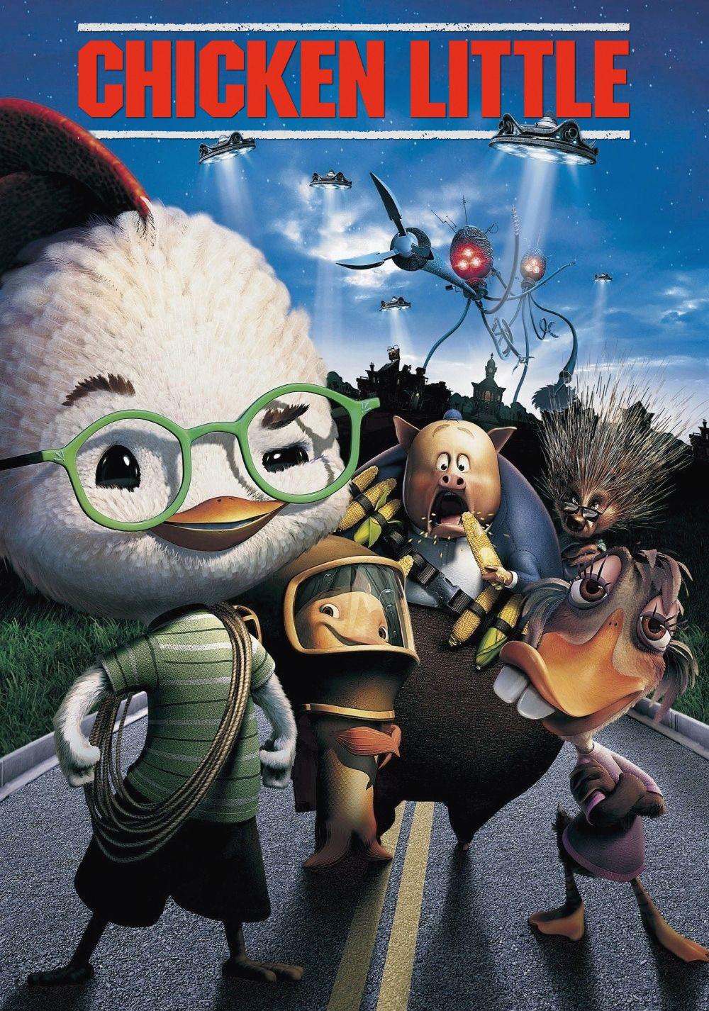 Animated Movie Posters Chicken Little Disney Kid Movies [ 1426 x 1000 Pixel ]