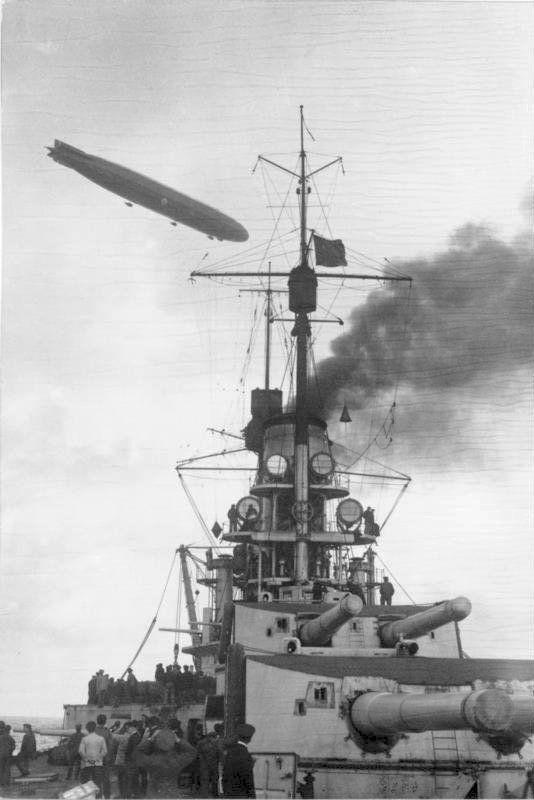 German battleship Grosser Kurfürst photographed during Operation Albion in October 1917