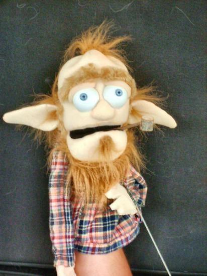 muppet gumy piankowej drwal, tekstylia handmade